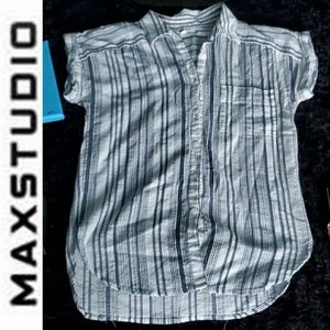 • Max Studio • Short Sleeve Button Up